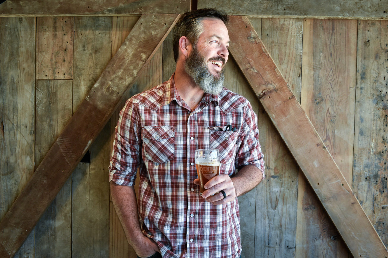 Owner Seth Morgan poses for a portrait at Denton Brewing Company.  Owners are Jenny and Seth Morgan – and this is Seth's passion project. He has brewed for more than 20 years, and quit his high paying bank job to pursue this project.  The brewery will ope